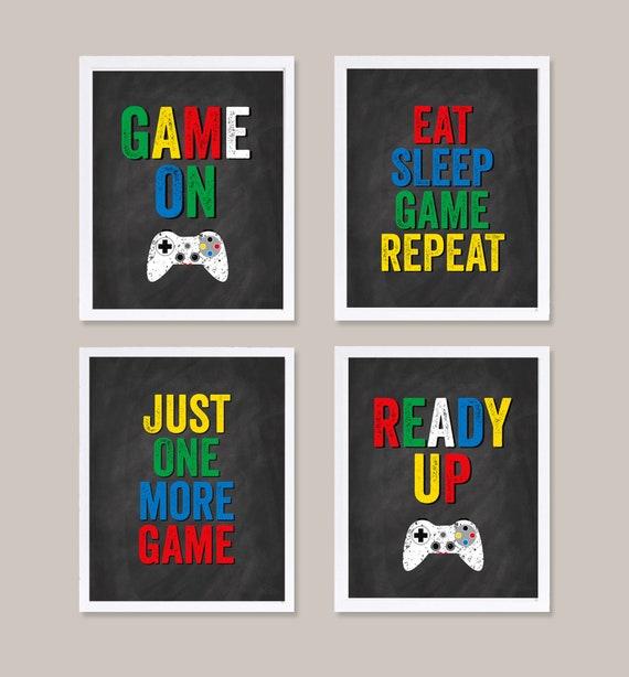 Fra mega Gaming Wall Art Gaming Decor Video Game Posters Set of 4 | Etsy TI-29