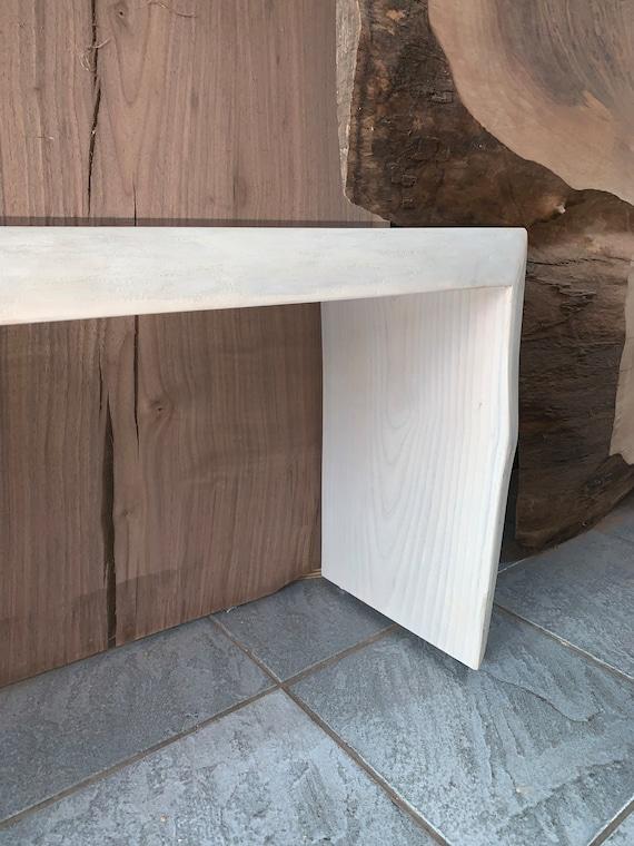 Superb White Ash Waterfall Bench Theyellowbook Wood Chair Design Ideas Theyellowbookinfo