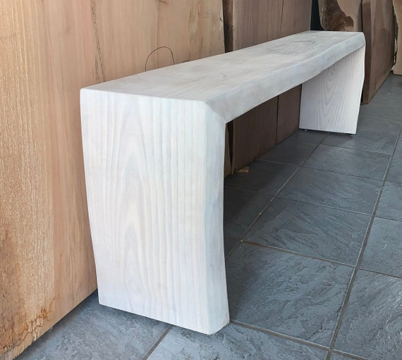 Magnificent White Ash Waterfall Bench Theyellowbook Wood Chair Design Ideas Theyellowbookinfo