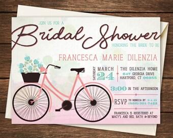 Bike bridal shower etsy bicycle bridal shower invitation bicycle bridal shower watercolor bridal shower bike bridal shower bike bridal shower invitation filmwisefo