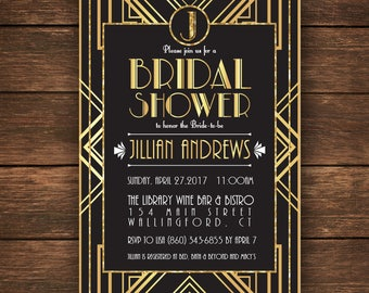 great gatsby bridal shower invitation bridal shower invitationgreat gatsby bridal shower gatsby bridal shower gatsby invitation