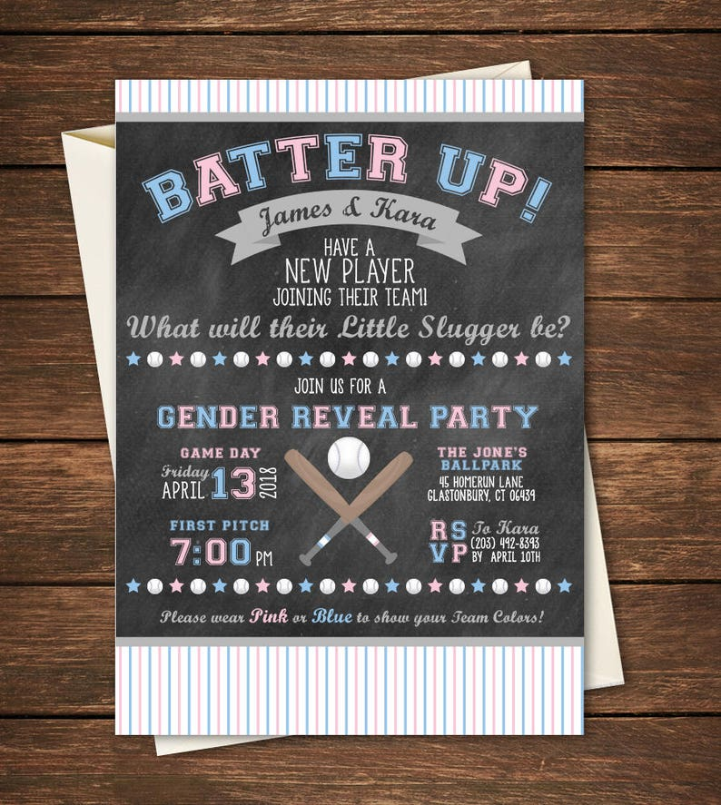 Gender Reveal Invitation Football Party