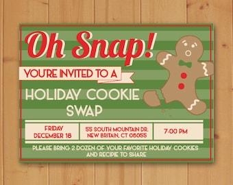 Holiday Cookie Swap Invitation-Cookie Swap Invitation-Cookie Swap-Christmas Cookie Swap Invitation-Cookie Swap-Christmas Party Invitation