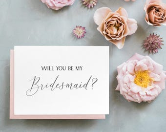 Will You Be My Bridesmaid? Card // bridesmaid proposal // be my bridesmaid card // maid of honor card // matron of honor card // flower girl