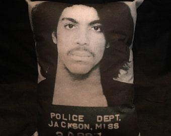 Prince Mugshot Pillow