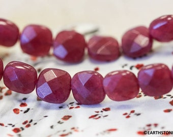 M Red Jade 8x35mm Elongated Faceted Oval Rice beads 16 strand Dyed red jade nephrite beads for jewelry making