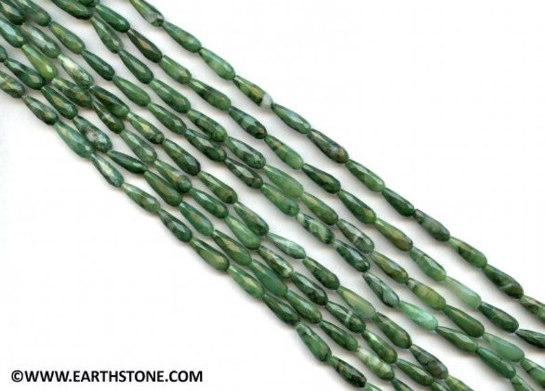 Facettes un grade vert naturel jade Jade Anneau Taille 10 1//2