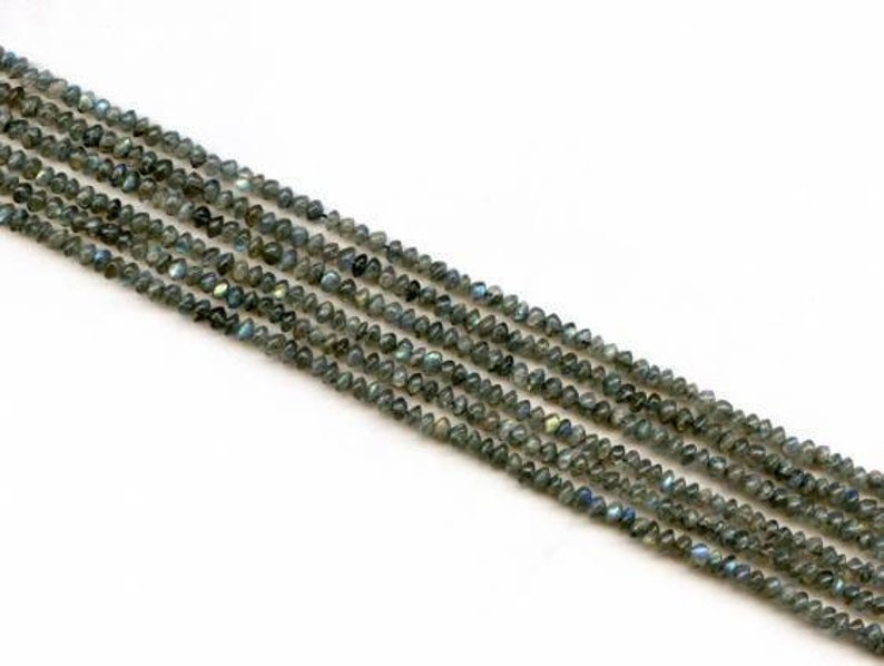 S Labradorite 4.5-5mm Rondelle beads 14 strand Size varies Natural gemstone beads for jewelry making