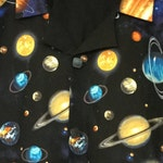 Solar System Planets Stars Space Aloha Shirt Cotton in Men's size 3XL handmade by Dottykins