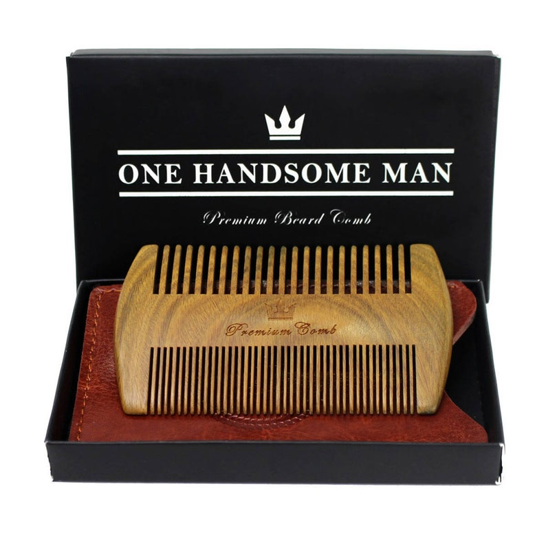 Handcrafted Beard Comb  Perfect Gift For Him  Sandalwood image 0