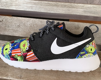 ed1b2f89e56b Toy Story movie Alien Little Green Men LGM Inspired Custom Nike Roshe Run  Women