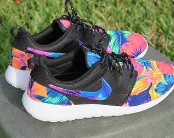 where to buy nike roshe blue floral de44f 9a55c