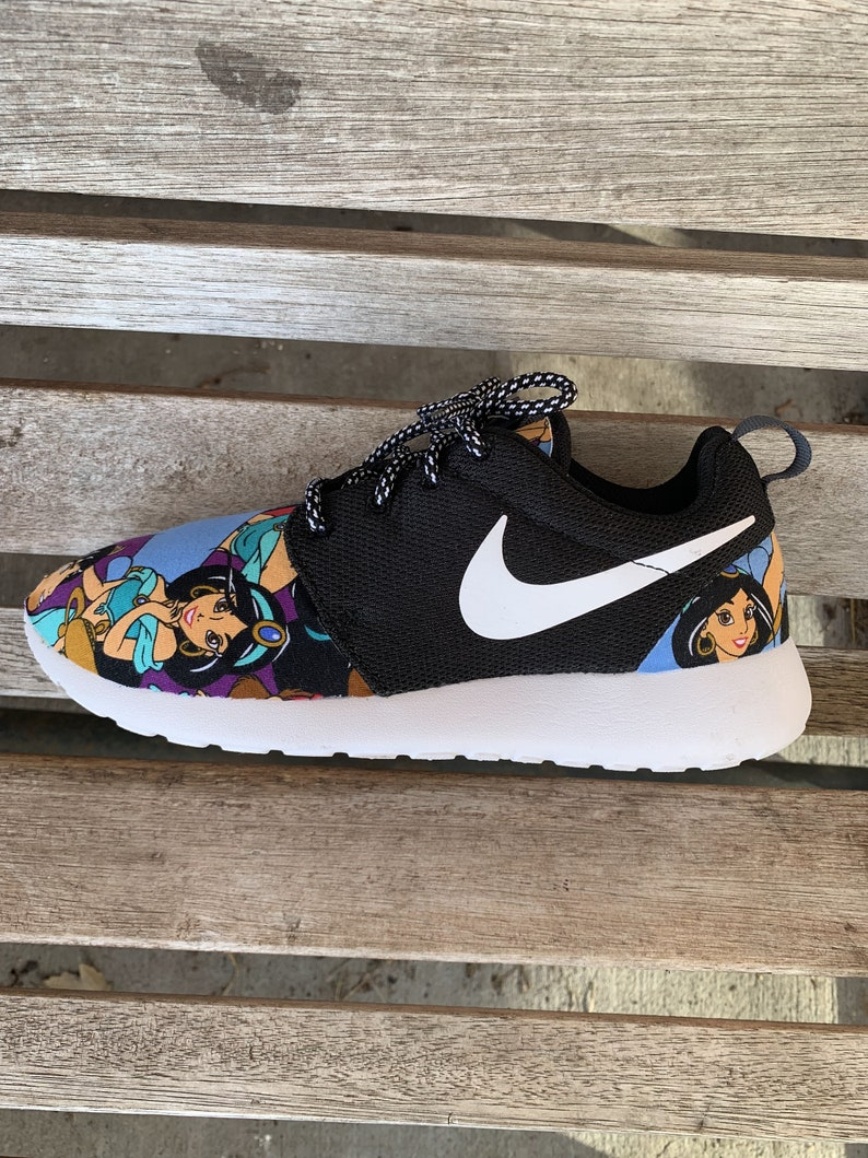 19f230d8c2e6 Aladdin Disney Princess Jasmine Inspired Custom Nike Roshe Run