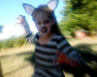 printable wolf ears halloween costume ears wolf costume headband wolf ears printable mask printable halloween costume kids costume wolf grey
