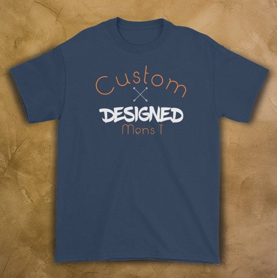 99d63807f Custom designed Mens t shirt personalized mens gift tshirt | Etsy