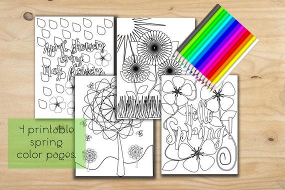 Para imprimir páginas para colorear hojas de color de | Etsy