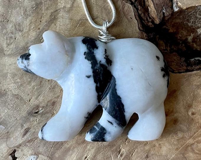 Stone Bear Necklaces