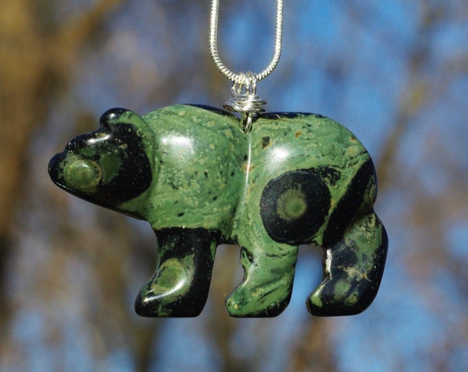 Stone Bear Necklaces