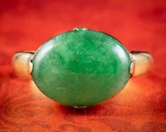 Antique Victorian Jade Signet Ring 7ct Jade Circa 1900