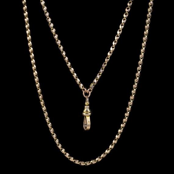 Antique Victorian Guard Chain 9ct Gold Circa 1880
