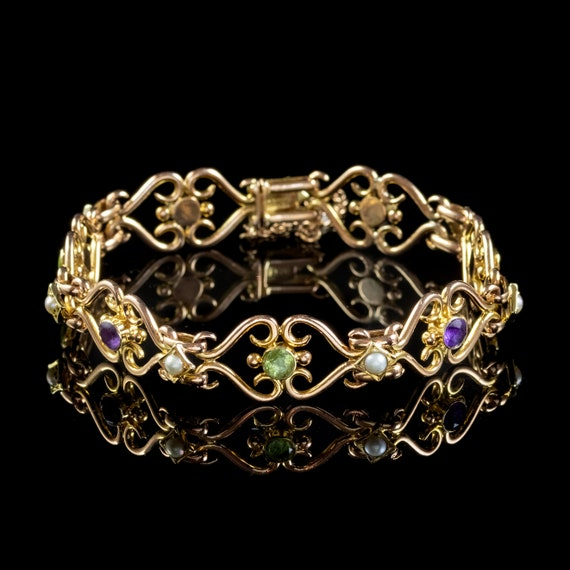 Antique Edwardian Suffragette Bracelet 15ct Gold P