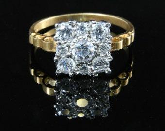 Art Deco Paste Gold Ring