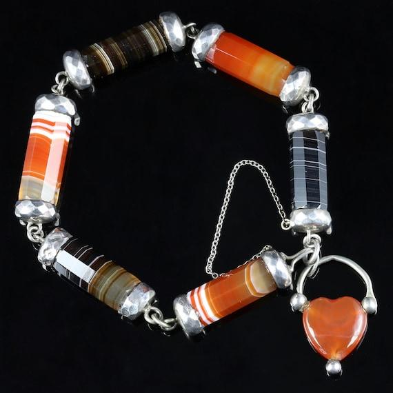 Antique Victorian Scottish Agate Bracelet Circa 18
