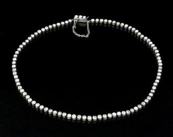 Antique Georigan Silver Paste Collar Necklace Circa 1800