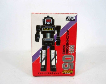 Vintage Machinerobo MR 05 by Bandai (GoBots Loco). Mint in Box with Insert and All Paperwork. Circa 1983.
