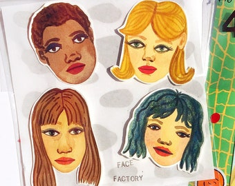 Face Factory portrait cut outs