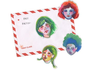 Allegra Lockstadt: Face Factory portrait cut outs