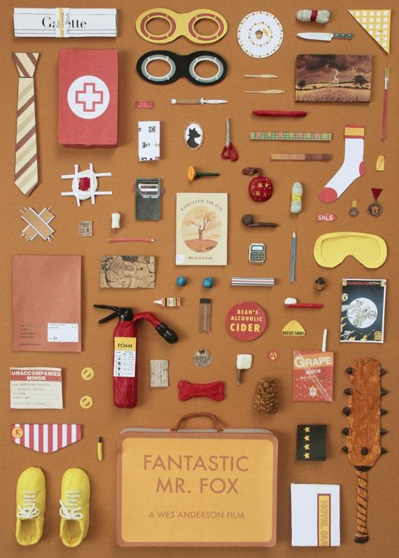 Fantastic Mr Fox Poster A4 Artwork By Jordan Bolton Etsy