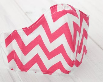 """""""CHEVRON FUCSIA"""" filter pocket mask Available in all sizes"""