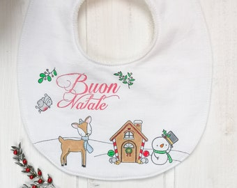 "Hand-painted bib ""Gingerbread House"""
