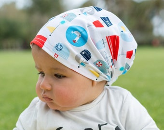 "Bandana for children ""boats and seagulls"""