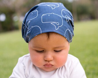 """Bandana for Baby """"whales"""""""