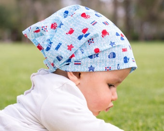 "Bandana for Baby ""at the bottom of the sea"""