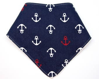 "Bandana with absorbent sponge ""little Sailor in Blue"""