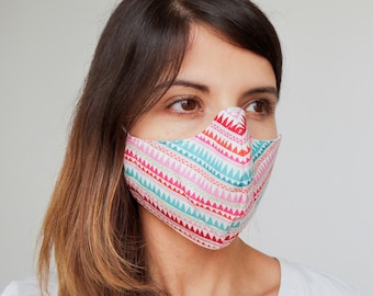 """""""Geometric Lines"""" filter pocket mask Available in all sizes"""