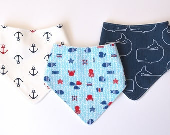 "Tris of bandana with absorbent sponge ""Sea Sea Mare"""