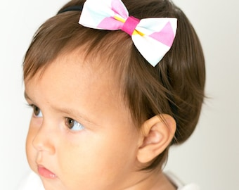 "Hair band with bow all sizes ""triangles"""