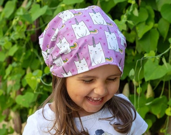"Bandana for girls ""unicorns cat"""