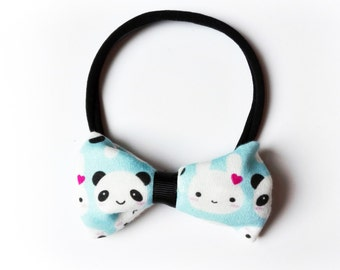 Hair band with bow all sizes Panda and Bunny