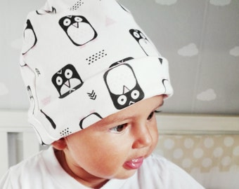 "Organic cotton ""penguins"" hat"