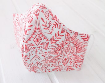 """""""Boho red"""" filter pocket mask Available in all sizes"""