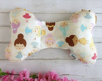 "Ergonomic cushion for children ""Girls and Flowers"""