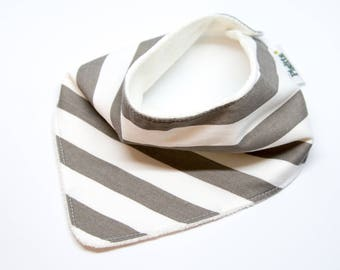 """Bandana with absorbent sponge """"white and grey strips"""""""