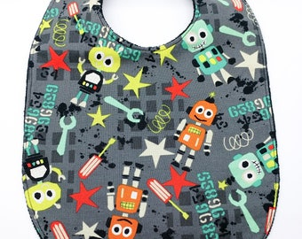"Maxi bib ""Robot and stars"""