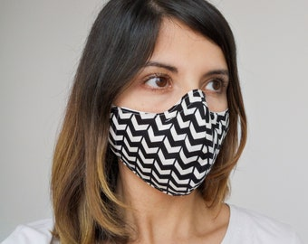 """black and white"" filter pocket mask Available in all sizes"