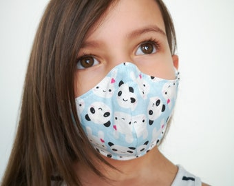 """""""Panda and bunny"""" filter pocket mask Available in all sizes"""